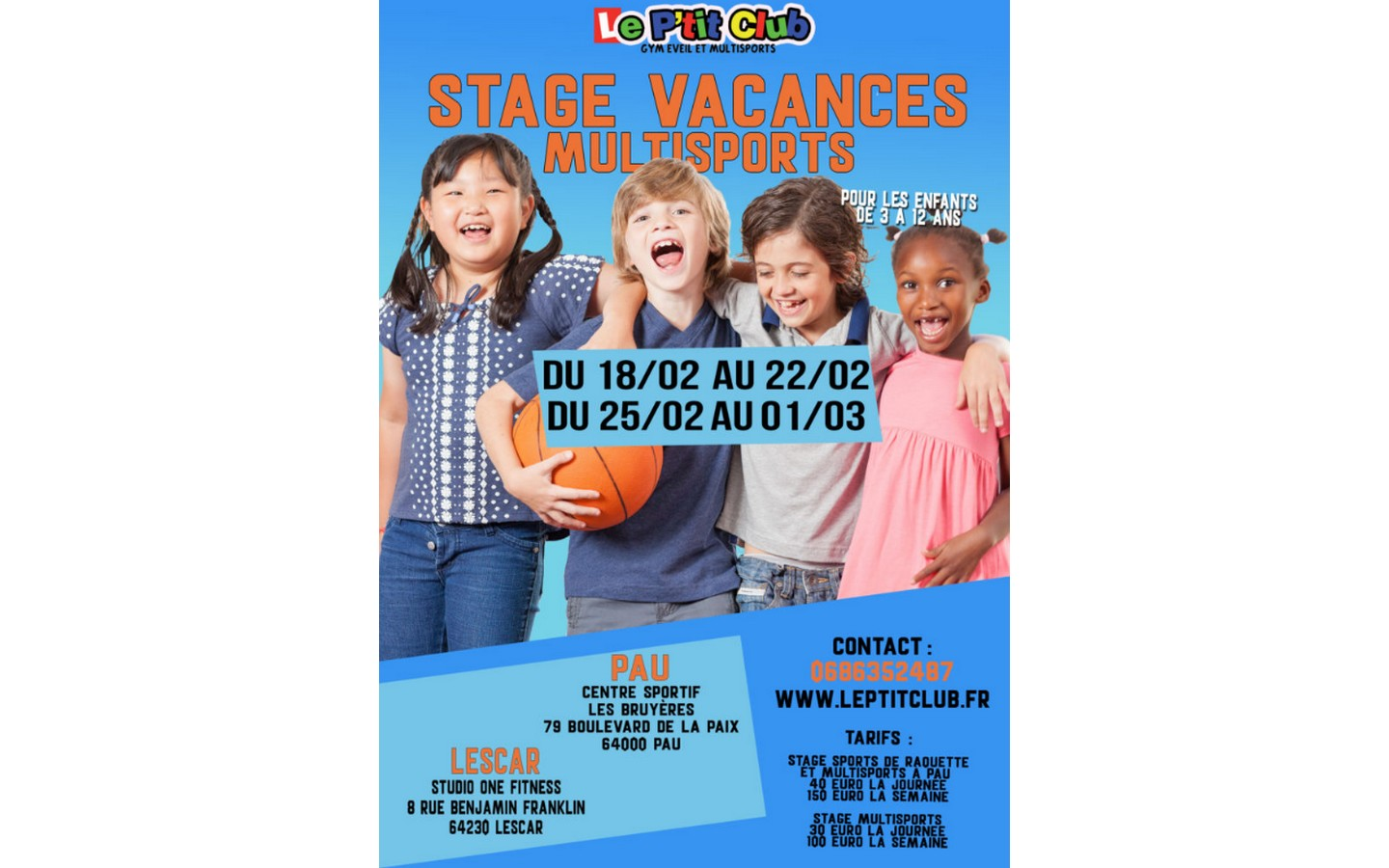 Le-P'tit-club-Lescar---Stage-Vacances-Multisports